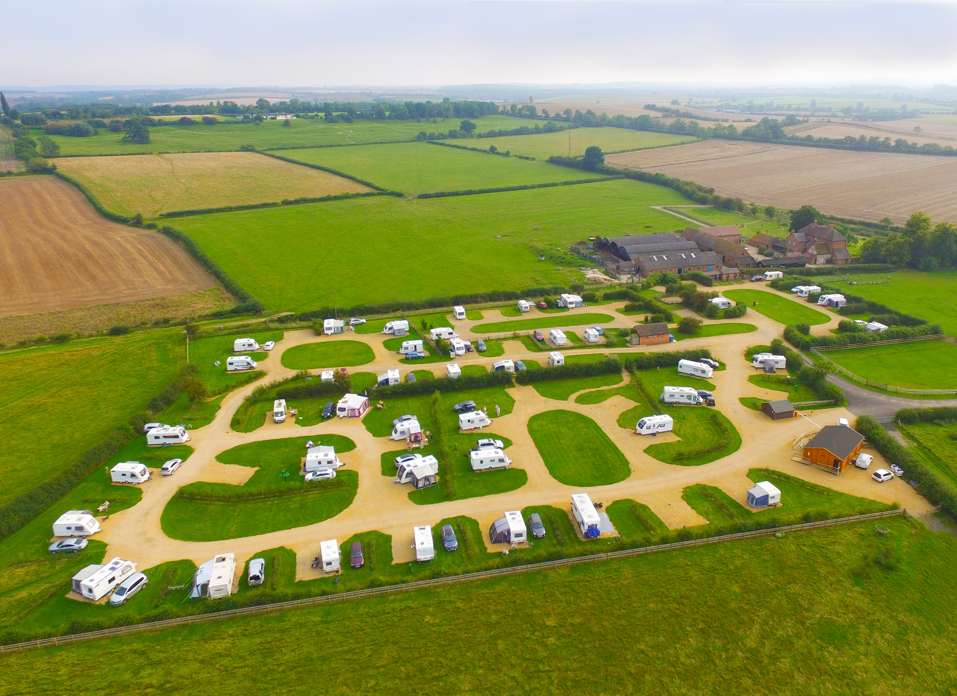 Overhead view of caravan park
