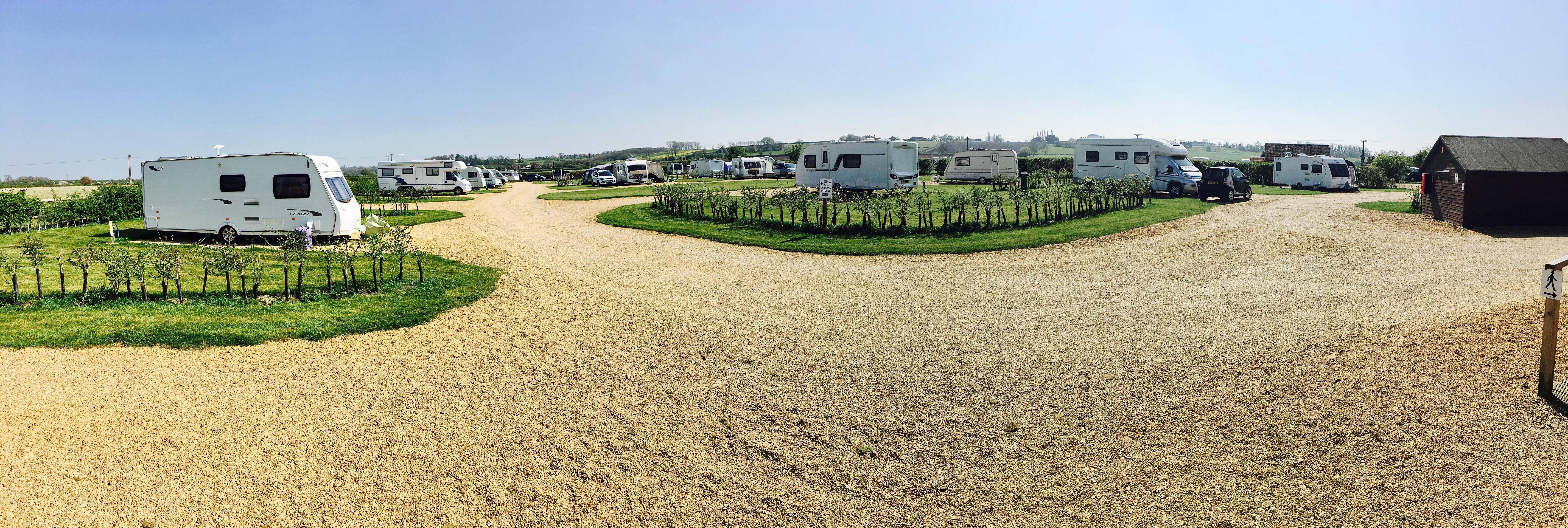 view accross the caravan park